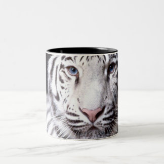 White Bengal Tiger Photography Two-Tone Coffee Mug