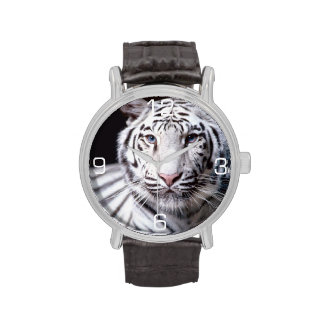 White Bengal Tiger Photography Wristwatches