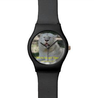 White Bengal Tiger Wrist Watch