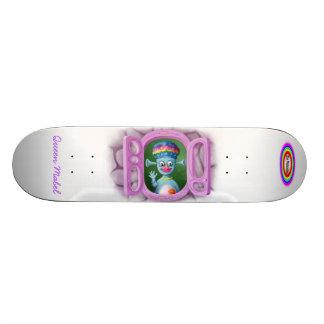 White BG, The Malamites text and Rainbow - Whit... Custom Skateboard