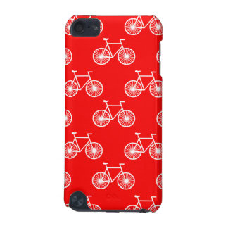White Bicycle Cycling Pattern Bright Red iPod Touch 5G Case