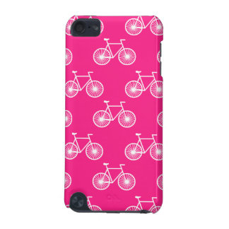 White Bicycle Cycling Pattern Neon Pink iPod Touch 5G Covers