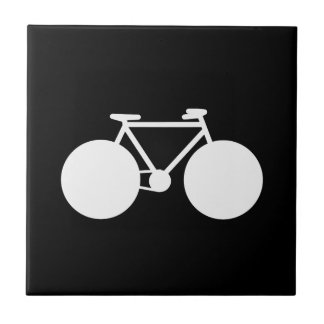 white bicycle modern design small square tile