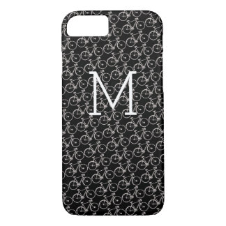 white bicycles monogrammed iPhone 8/7 case