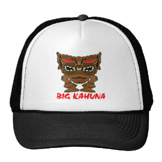 White Big Kahuna Tiki God Cap