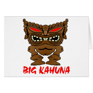 White Big Kahuna Tiki God Greeting Card