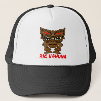 White Big Kahuna Tiki God Trucker Hat