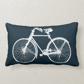 white bike bicycle Throw pillow blue turquoises