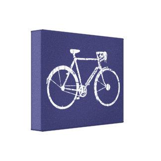 white bike decor wall idea gallery wrapped canvas