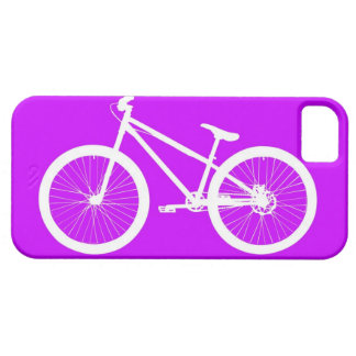 White Bike on Purple iPhone 5 Case