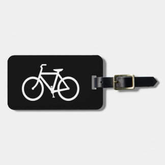 White Bike Route Luggage Tag