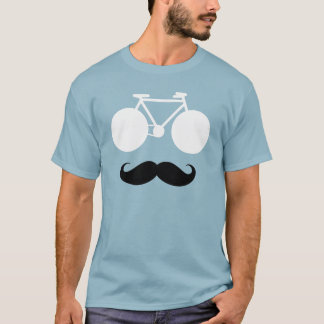 white bike with moustache T-Shirt