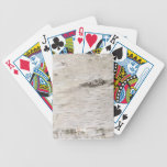 White Birch Bark Bicycle Playing Cards