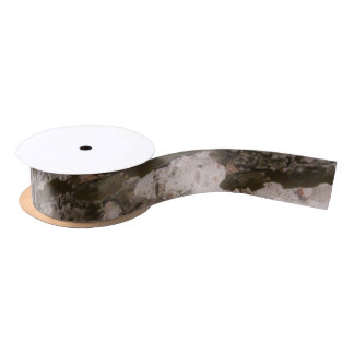 White Birch Bark Satin Ribbon