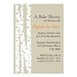 White Birch Tree/ Baby Shower 13 Cm X 18 Cm Invitation Card