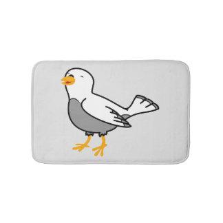 White Bird Bath Mat Bath Mats