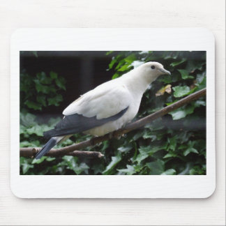 White Bird Mouse Mat