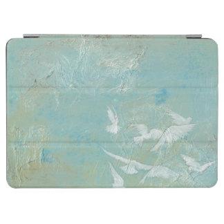 White Birds Flying Through Blue Sky iPad Air Cover