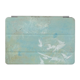 White Birds Flying Through Blue Sky iPad Mini Cover