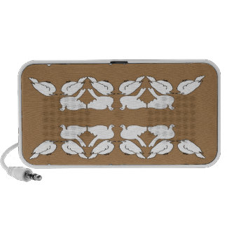 White Birds_Funny_love birds_gold_cute_design PC Speakers