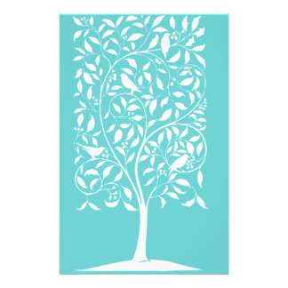White Birds in Tree 14 Cm X 21.5 Cm Flyer
