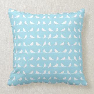 White Birds Throw Pillow