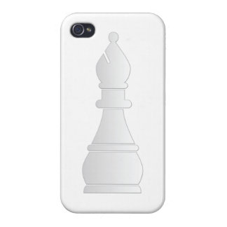 White bishop chess piece iPhone 4/4S covers