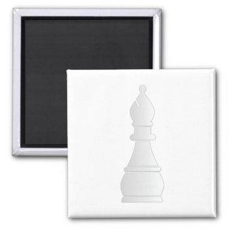 White bishop chess piece refrigerator magnets