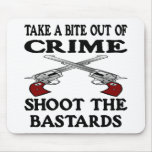 White Bite Out Crime Bastards Mouse Pad