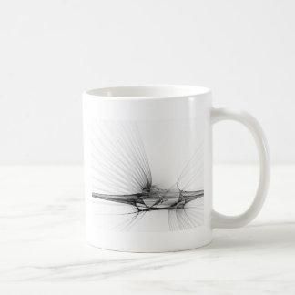 white black abstract coffee mug