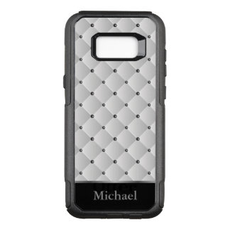 White, Black and Silver Pattern Design OtterBox Commuter Samsung Galaxy S8+ Case