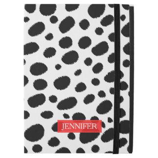 White & Black Cheetah Spots Pattern