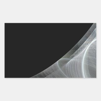 White & Black Fractal Background Rectangle Sticker