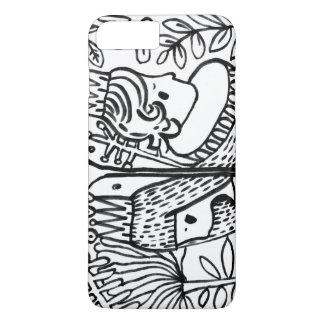 white black garden love IPHONE iPhone 7 Plus Case