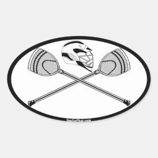 White Black Goalie Lacrosse Sticks and Helmet Stickers