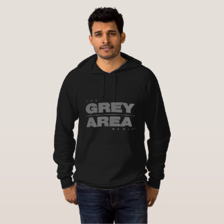 White/ Black Grey Area Hoodie Mens