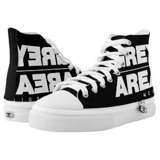 White/ Black Grey Area Shoes