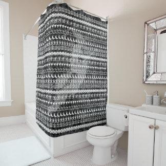 White/Black Halloween Witch Fun Font Art Pattern Shower Curtain