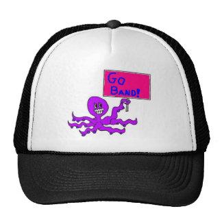 White/Black Octopus trucker Mesh Hat