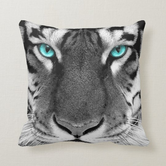 White Black Pattern Pillow