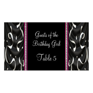 White Black Pink Party Streamers Table Pack Of Standard Business Cards
