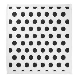 White & Black Polka Dots Bandana