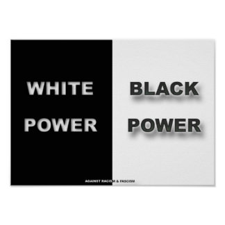 White & Black Posters