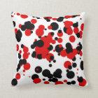 White black red cushion