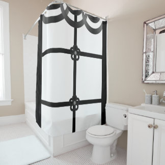White black showercurtain shower curtain