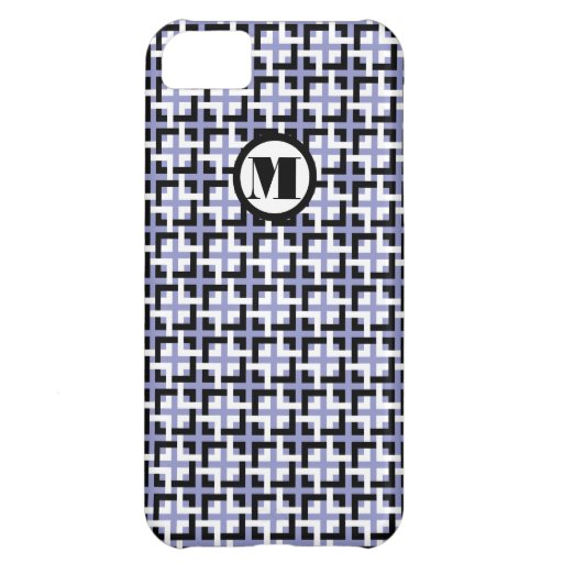 White-Black Squares and Violet Barely There Case iPhone 5C Covers