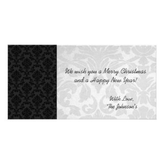 White & Black Vintage Christmas Photo Cards