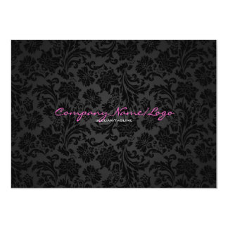 White & Black Vintage Floral Damasks 2 11 Cm X 16 Cm Invitation Card