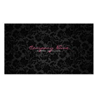 White & Black Vintage Floral Damasks Business Card Templates