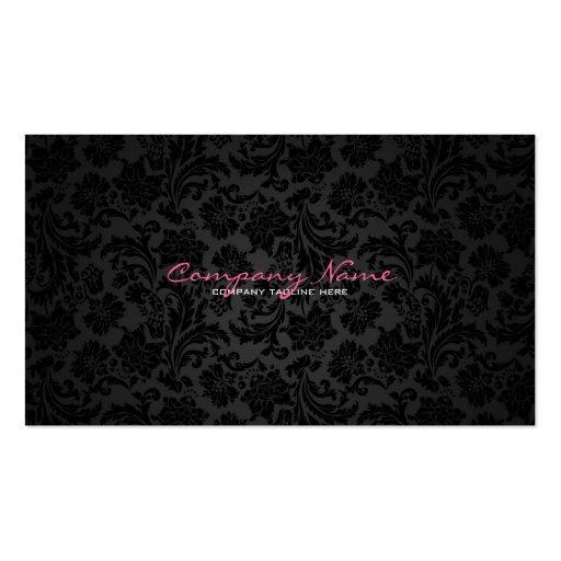 Premium retro vintage business card templates white black vintage floral damasks business card templates reheart Images